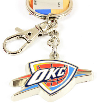 Oklahoma City Thunder Logo Key Ring