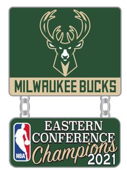 Milwaukee Bucks 2021 NBA Eastern Conference Champs Pin