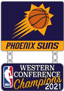 Phoenix Suns 2021 NBA Western Conference Champs Pin