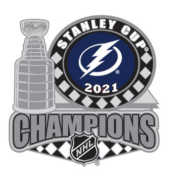Tampa Bay Lightning 2021 Stanley Cup Champs Trophy Pin
