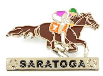 Saratoga Lucky Horse Racing Pin