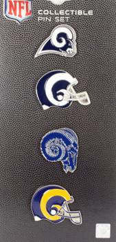 Los Angeles Rams Evolution Timeline Pin Set #2