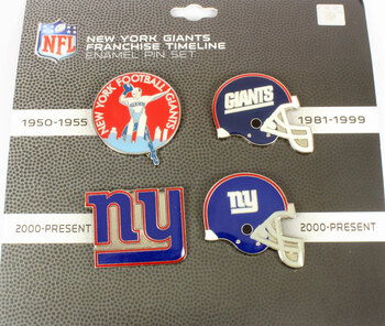New York Giants Timeline Pin Set