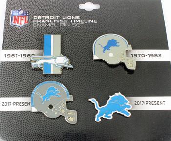 Detroit Lions Timeline Pin Set