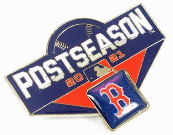 "Boston Red Sox 2021 Post Season Oversized Pin - 1.75"""