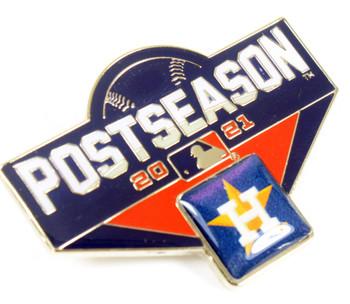 "Houston Astros 2021 Post Season Oversized Pin - 1.75"""
