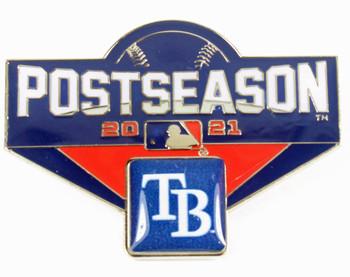 "Tampa Bay Rays 2021 Post Season Oversized Pin - 1.75"""
