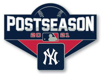 "New York Yankees 2021 Post Season Oversized Pin - 1.75"""