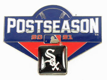 "Chicago White Sox 2021 Post Season Oversized Pin - 1.75"""
