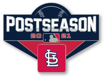 "St. Louis Cardinals 2021 Post Season Oversized Pin - 1.75"""