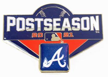"Atlanta Braves 2021 Post Season Oversized Pin - 1.75"""