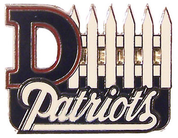New England Patriots D-Fence Pin