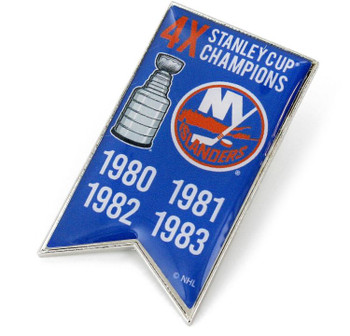 New York Islanders 4-Time Stanley Cup Champs Pin