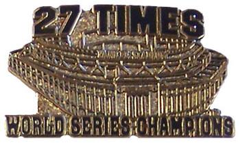New York Yankees 27 Times WS Champs w/ New Stadium Pin-LTD 1000