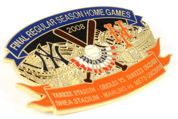 Yankee Stadium & Shea Stadium Final Games Fairwell Pin, LTD 300