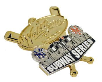 Yankees vs. Mets 2000 Subway Series Dueling Double Pin