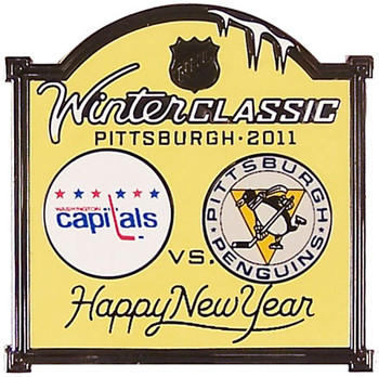 2011 NHL Winter Classic Capitals vs. Penguins Pin
