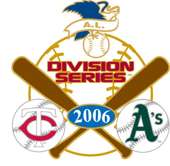 A's vs. Twins 2006 Division Series Pin