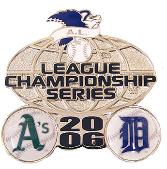A's vs. Tigers American League Champs Dueling Pin