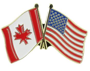 America & Canada Flag Pin