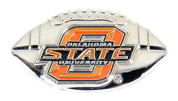 Oklahoma State 3-D Football Pin