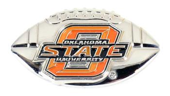 Oklahoma State 3-D Football Pin