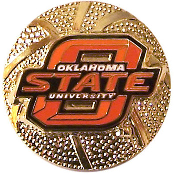 Oklahoma State Basketball Pin