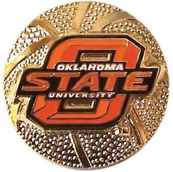 Oklahoma State Basketball Pin