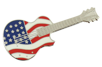 American Flag Guitar Pin