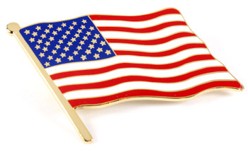 Oversized Large American Flag Lapel Pin - 2""