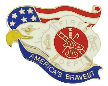 America's Bravest Firemen Pin