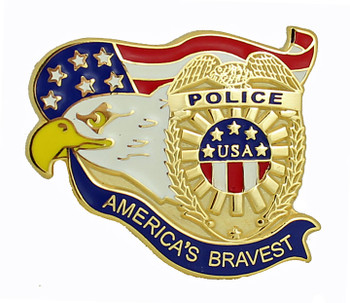 America's Bravest Police Pin