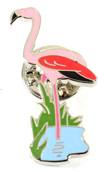 Pink Flamingo Lapel Pin