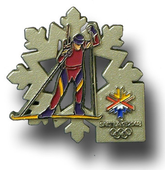 Salt Lake City 2002 Olympics Biathlon Flake Pin
