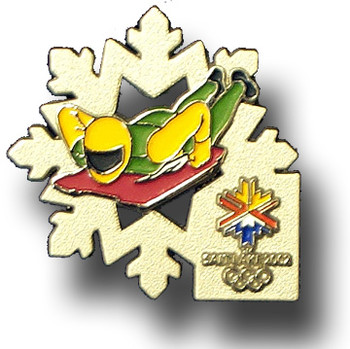 Salt Lake City 2002 Skeleton Flake Pin
