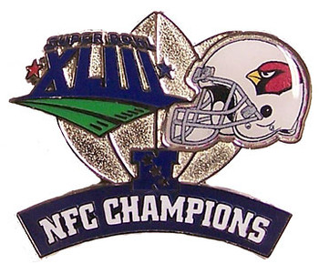 Arizona Cardinals 2008 NFL Champions Pin #1
