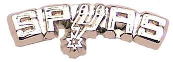 San Antonio Spurs Silver Logo Pin