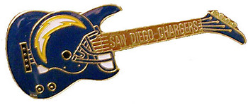 San Diego Chargers Guitar Pin