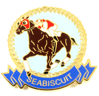 Seabiscuit Gold Crown Pin
