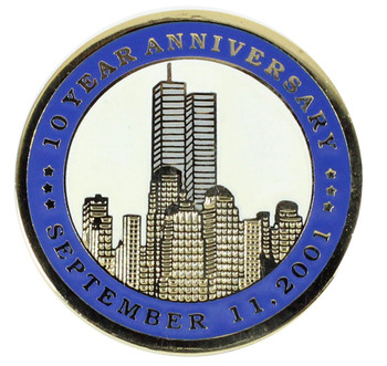 September 11th 10 Year Anniversary Pin - Gold