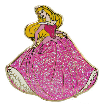 Sleeping Beauty with Glitter Dress Disney Pin