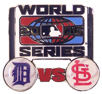 St. Louis Cardinals vs Detroit Tigers 2006 World Series Dueling Pin #2