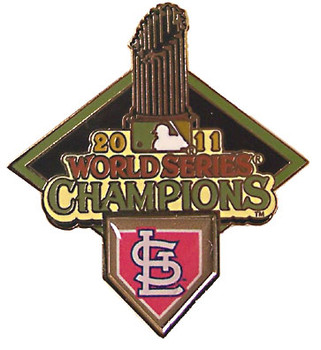 St. Louis Cardinals 2011 World Series Champions Trophy Pin - A