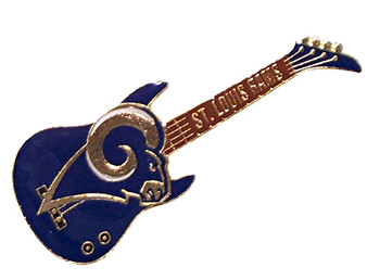 "St. Louis Rams ""New"" Logo Guitar Pin"