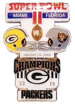 Super Bowl II (2) Oversized Commemorative Pin