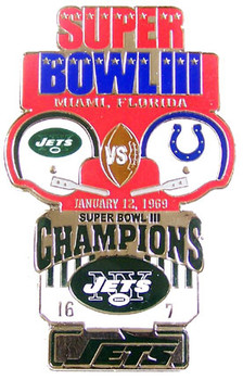 Super Bowl III (3) Oversized Commemorative Pin