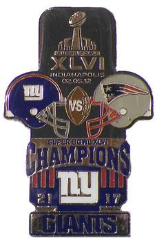 Super Bowl XLVI (46) Oversized Commemorative Pin