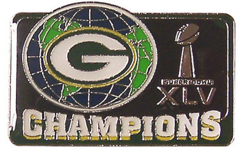 Super Bowl XLV (45) Green Bay Packers  Champs Pin