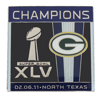 Green Bay Packers Super Bowl XLVI (45) Champs Pin #2