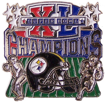 Super Bowl XL (40) Pittsburgh Steelers Champions Pin